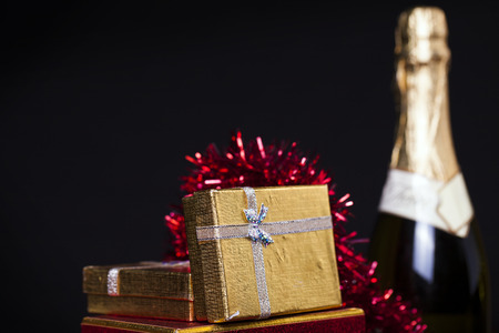 Gift Boxes and Champagne photo