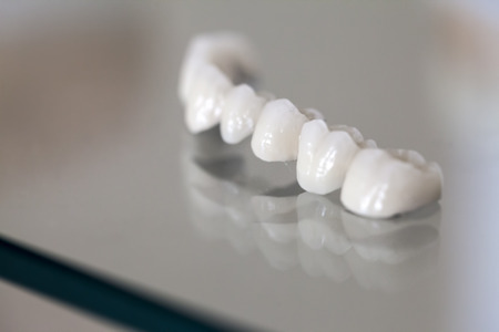 Zirconium Porcelain Tooth Stock Photo