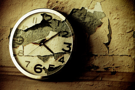 stopped: Grunge Clock Background Texture