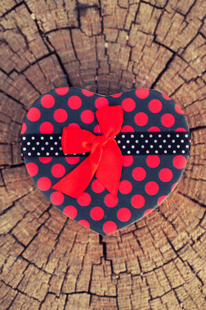 giftware: Heart Shape Gift Box on the Tree