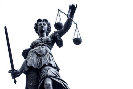 estatua de la justicia: Señora Justicia Estatura n Alemania, Frankfurt
