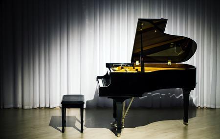 grand piano: Piano Cl�sico Foto de archivo