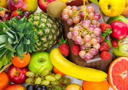 Fruits all together 版權商用圖片