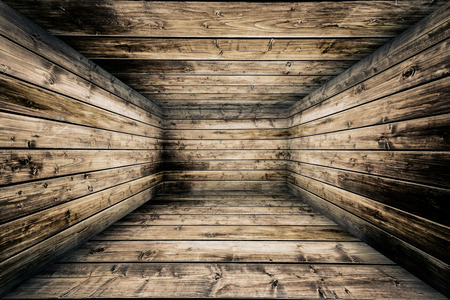 Abstract Wooden Interior Walls Stage Background 写真素材