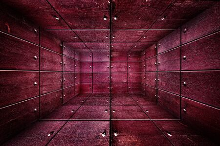 Abstract Wooden Interior Walls Stage Background Stock Photo