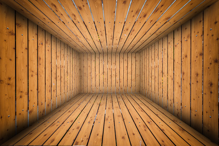 abandoned building: Abstract Wooden Interior Walls Stage Background Stock Photo