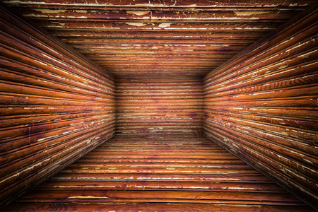 industry moody: Abstract Wooden Interior Walls Stage Background Stock Photo