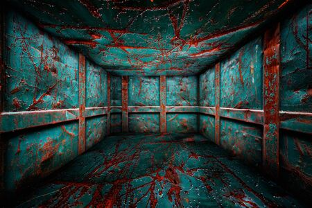 Abstract Urban Metal Interior Grunge Room Stage Background