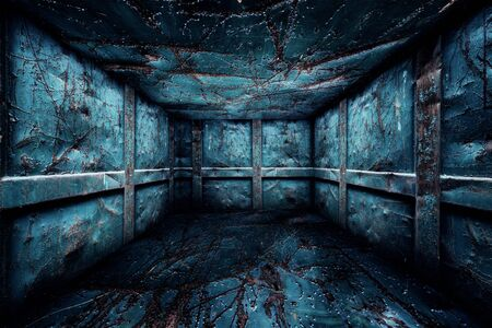 industry moody: Abstract Urban Metal Interior Walls Stage Background
