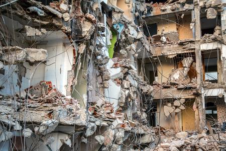 rundown: Abandoned Rundown Building Construction Area