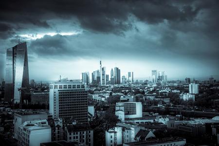 Frankfurt Black and White Landscape 写真素材