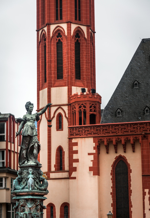 justice statue: Lady Justice Statue in Frankfurt Stock Photo