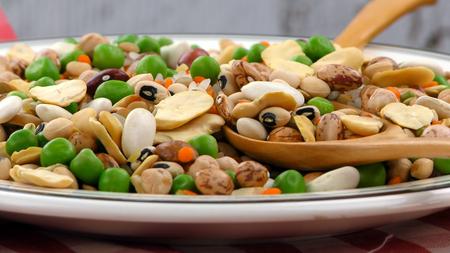 leguminosas: Deliciosa mixtas de leguminosas Foto de archivo