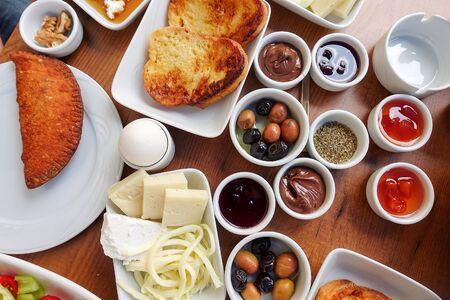 Traditional Rich Turkish Breakfast 版權商用圖片