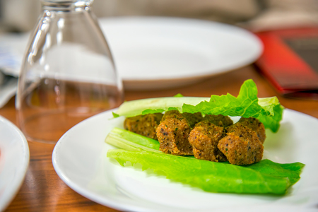 cig: Turkish Raw Food called Cig Kofte Stock Photo