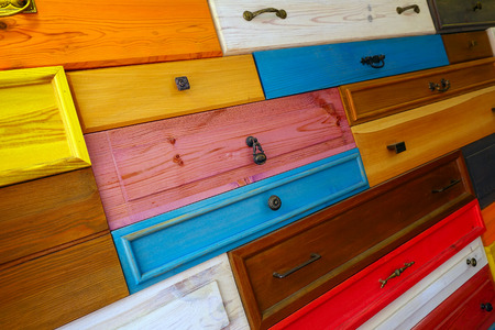 drawer: Colorful Wooden Drawer Stock Photo