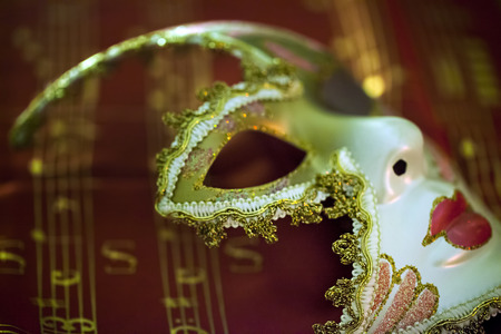 Masker en Muziek Stockfoto