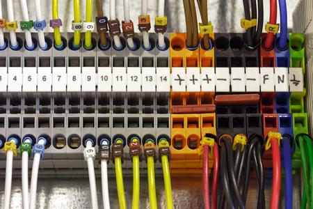 Elektrische machinekabels Stockfoto