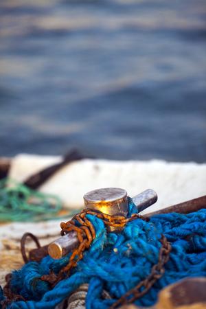 釣りライン網タイツ 写真素材