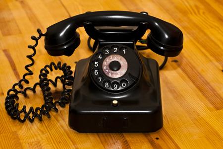 Vintage Old Classic Telefon Kommunikation Gerät Standard-Bild - 76881665