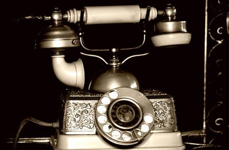 Vintage Old Classic Telephone Communication Device Stock Photo