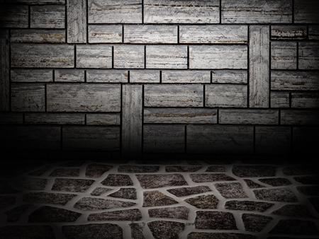 Urban Grunge Abstract Interior Brick Wall Stage Background Texture