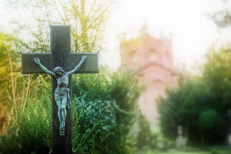 Christianity Religion Symbol Jesus Sculpture Lizenzfreie Bilder