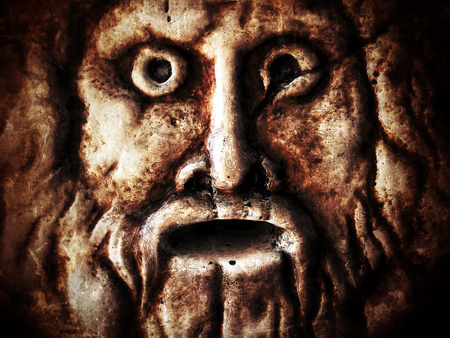 Scary Historical Ancient Marble Face