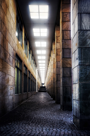 Retro Dark Corridor