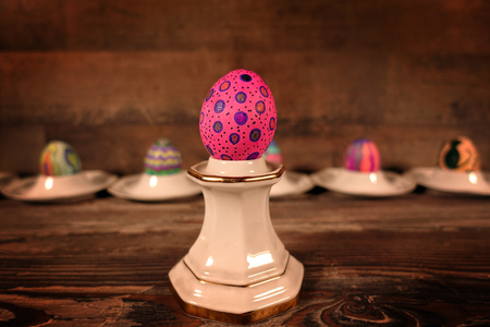 Colorful Easter Paschal Eggs Celebration Stock Photo