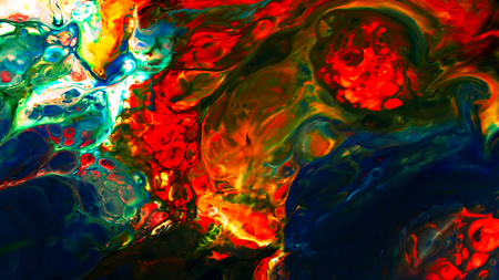 Colorful Ink Pattern Grunge Big Bang Chaos Spread on Milk and Water Foto de archivo