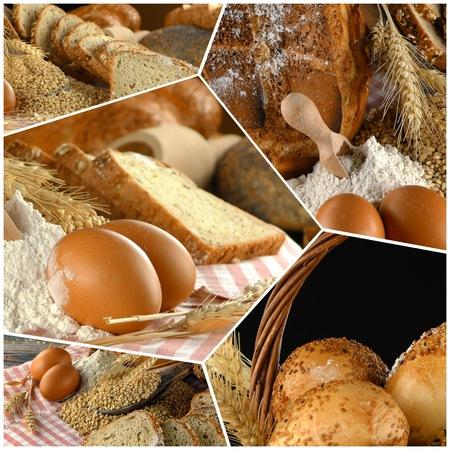 Delicious Fresh Bread Food Collage