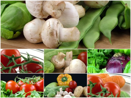 Mix of healthy Organic Vegetable Collage