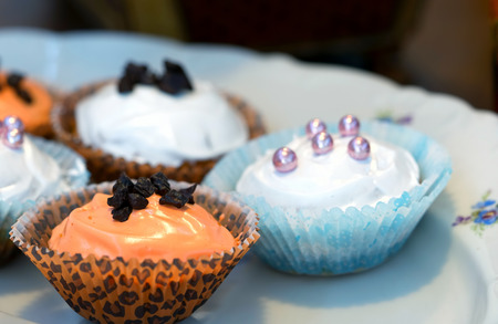 Cup Cakes on a Plate Photo