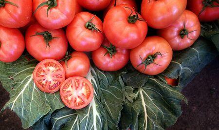 Healthy and Juicy Vegetable Tomato in a Bazaar Stok Fotoğraf