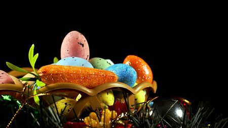 Colorful Traditional Celebration Easter Paschal Eggs Photo