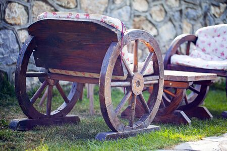 Old Wooden Horse Cart Carriage Wheels Vintage Photo