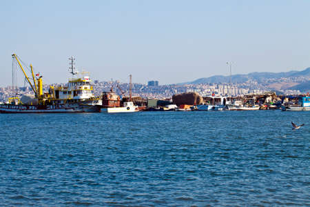 Transportation place Dock near the Sea Photo