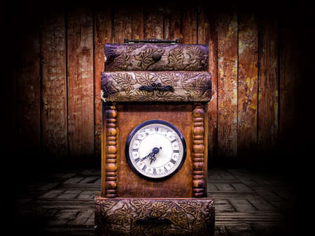 Abstract Vintage and Antique Style Clock Photo 版權商用圖片