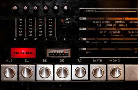 Vintage Stereo German Radio Display Buttons Photo