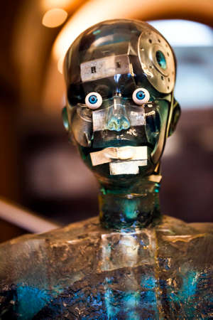 A High Tech Futuristic View of Robot Mannequin with External Details 版權商用圖片