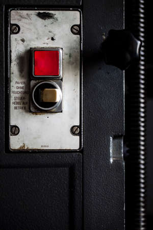 Mechanical Button from a Big Factory Machine Photo