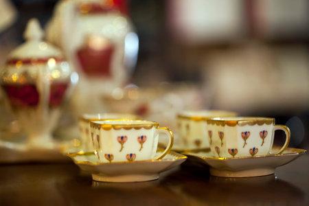 Vintage Turkish Traditional and Decorative Coffee Cups Фото со стока