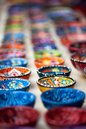 Small Colorful Decorative Spices Cups Photo