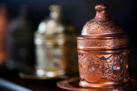Old Style Turkish Vintage Copper Cups Photo
