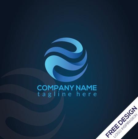 Modern circle logo design