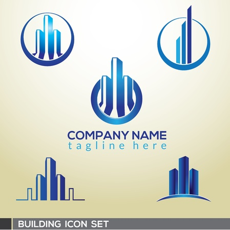 3D Building logo design