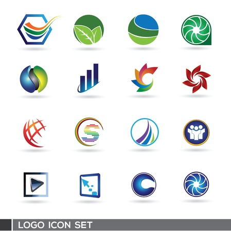 Multipurpose colorful logo icon set