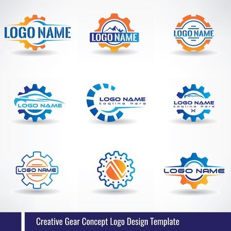 Creative Gear Concept Logo Design Template