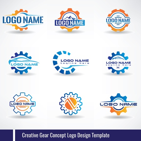 Creative Gear Concept Logo Design Template